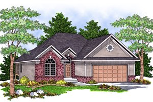 Traditional Exterior - Front Elevation Plan #70-580
