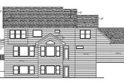 Country Style House Plan - 4 Beds 3.5 Baths 2895 Sq/Ft Plan #51-358 Exterior - Rear Elevation