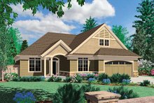 Home Plan - Traditional Exterior - Front Elevation Plan #48-413