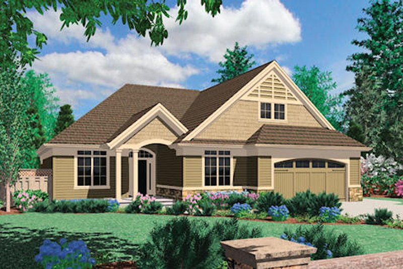 Traditional Exterior - Front Elevation Plan #48-413 - Houseplans.com