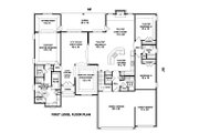 European Style House Plan - 4 Beds 3 Baths 3568 Sq/Ft Plan #81-13912 Floor Plan - Main Floor Plan