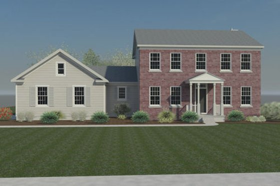 Colonial Exterior - Front Elevation Plan #446-1