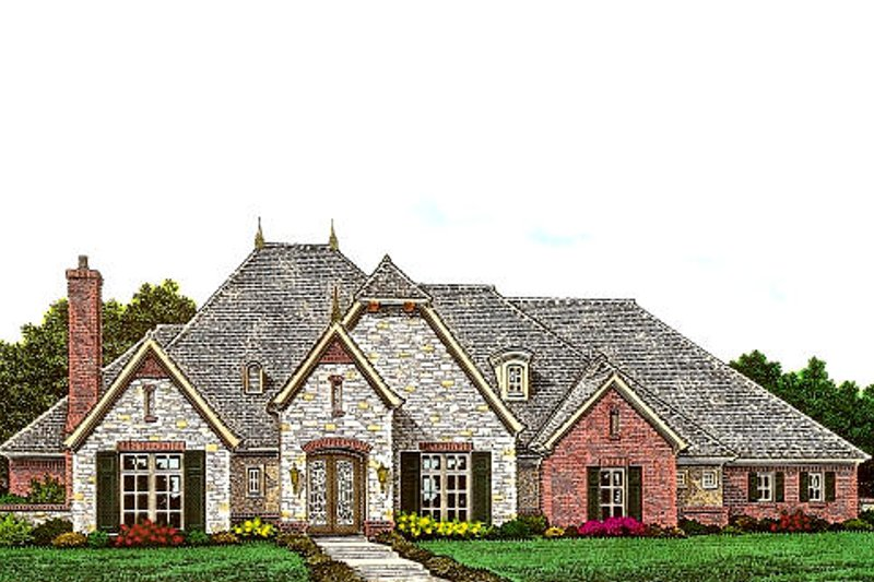 European Exterior - Front Elevation Plan #310-981