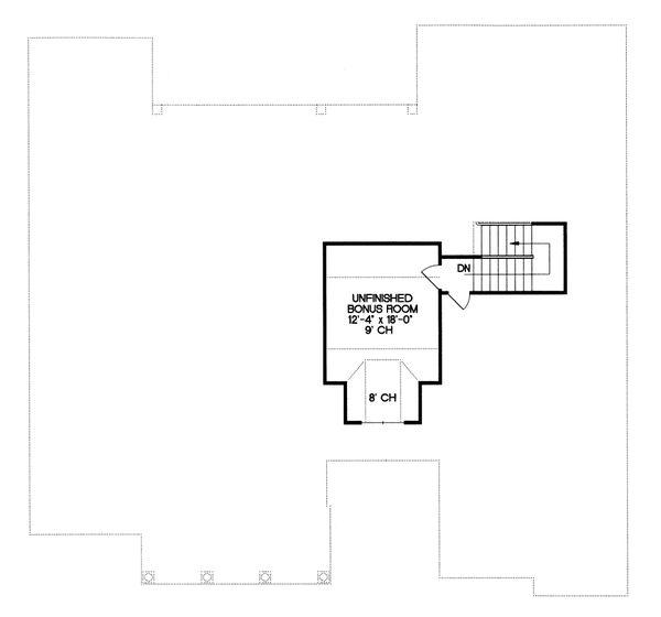 Craftsman Floor Plan - Upper Floor Plan Plan #20-164