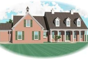 Southern Exterior - Front Elevation Plan #81-1179