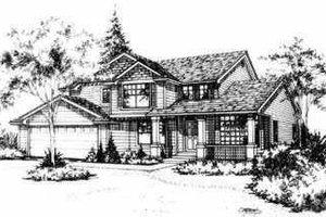 Craftsman Exterior - Front Elevation Plan #78-134