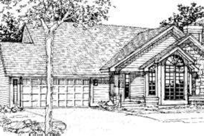 Home Plan - Traditional Exterior - Front Elevation Plan #320-117