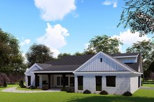 House Plan Design - Farmhouse Exterior - Rear Elevation Plan #923-155