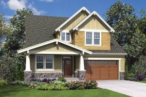 Cottage Exterior - Front Elevation Plan #48-997