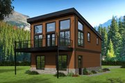 Contemporary Style House Plan - 1 Beds 1 Baths 825 Sq/Ft Plan #932-41 Exterior - Rear Elevation