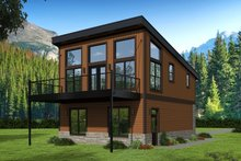 House Plan Design - Contemporary Exterior - Rear Elevation Plan #932-41