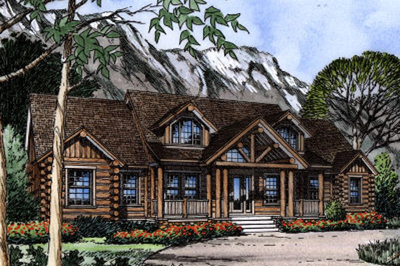 European Exterior - Front Elevation Plan #417-392 - Houseplans.com