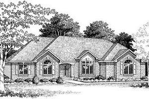 Traditional Exterior - Front Elevation Plan #70-375