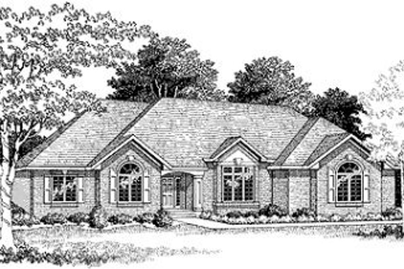 Traditional Style House Plan - 3 Beds 2.5 Baths 2369 Sq/Ft Plan #70-375 Exterior - Front Elevation