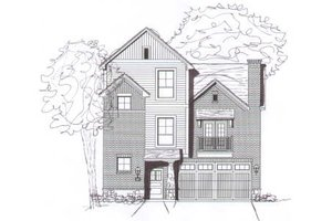 Modern Exterior - Front Elevation Plan #141-262