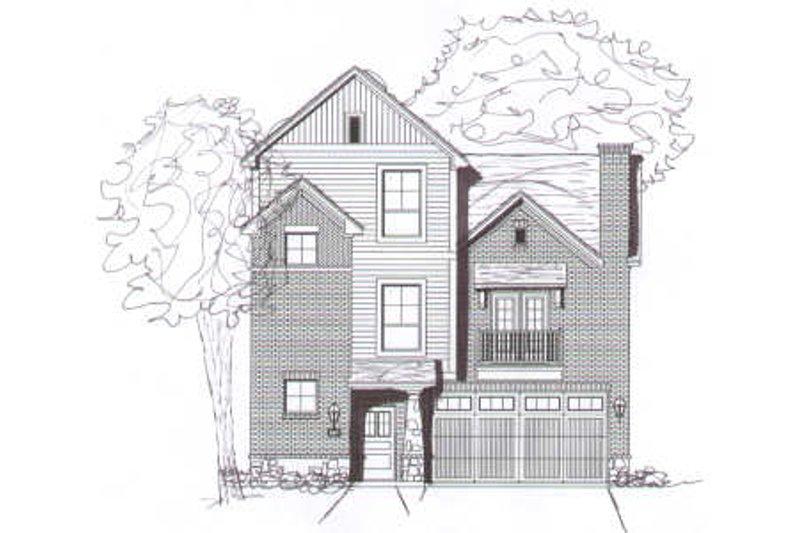 Modern Style House Plan - 2 Beds 2.5 Baths 1507 Sq/Ft Plan #141-262