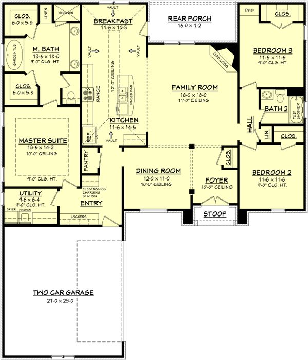 European Floor Plan - Main Floor Plan Plan #430-72
