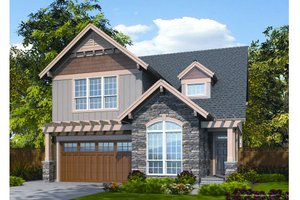 Craftsman Exterior - Front Elevation Plan #48-263
