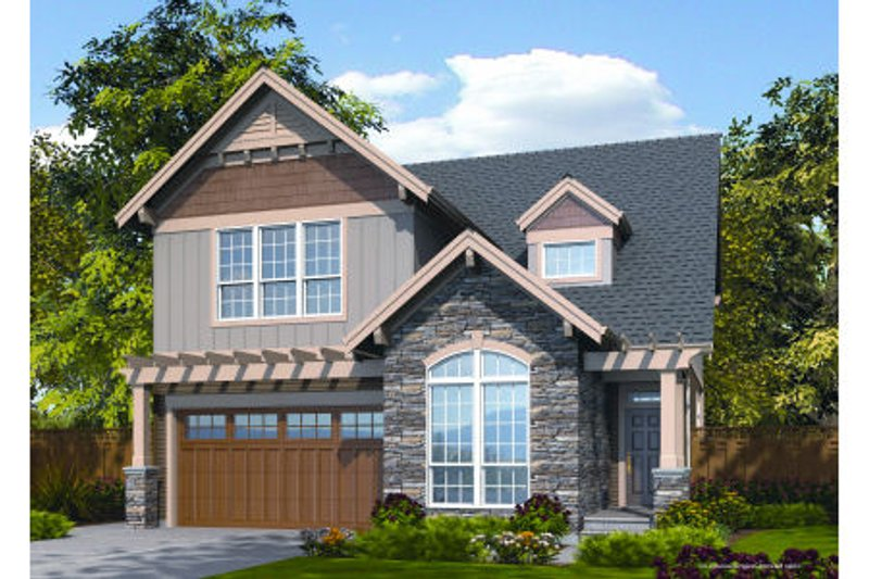 Dream House Plan - Craftsman Exterior - Front Elevation Plan #48-263