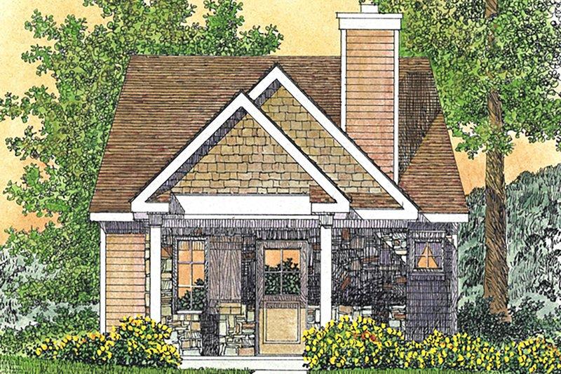 House Plan Design - Cottage Exterior - Front Elevation Plan #22-594
