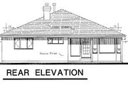 Ranch Style House Plan - 2 Beds 2 Baths 1590 Sq/Ft Plan #18-108 Exterior - Rear Elevation