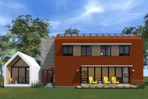 Modern Exterior - Rear Elevation Plan #933-7