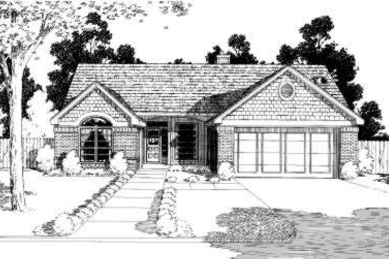 House Plan Design - Traditional Exterior - Front Elevation Plan #310-182