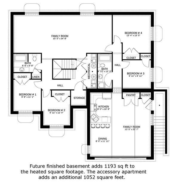 Home Plan - Future Finished Basement