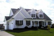 Country Style House Plan - 3 Beds 2.5 Baths 2513 Sq/Ft Plan #70-405 Exterior - Front Elevation