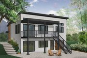 Modern Style House Plan - 2 Beds 1 Baths 1064 Sq/Ft Plan #23-2674 Exterior - Rear Elevation