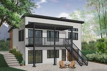 House Design - Modern Exterior - Rear Elevation Plan #23-2674