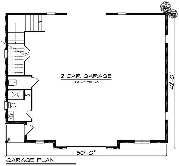 European Floor Plan - Main Floor Plan Plan #70-1451