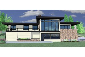 Modern Exterior - Front Elevation Plan #509-17