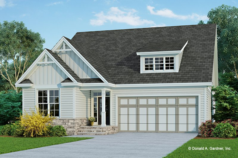 Cottage Exterior - Front Elevation Plan #929-1083