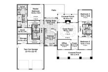 Craftsman Floor Plan - Main Floor Plan Plan #21-359