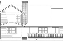 Home Plan - Traditional Exterior - Rear Elevation Plan #124-109