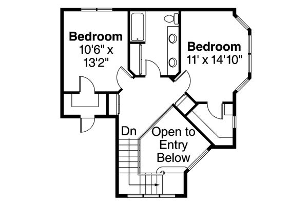 Country Floor Plan - Upper Floor Plan Plan #124-173