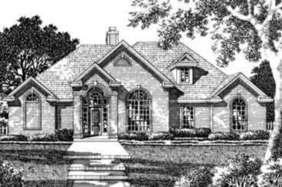European Exterior - Front Elevation Plan #141-108
