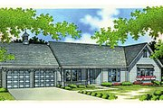 Ranch Style House Plan - 3 Beds 2 Baths 1898 Sq/Ft Plan #45-190 Exterior - Front Elevation