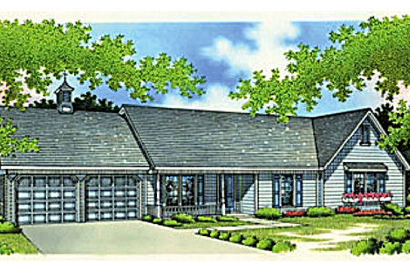 Ranch Exterior - Front Elevation Plan #45-190