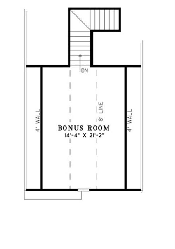 Traditional Floor Plan - Upper Floor Plan Plan #17-2394