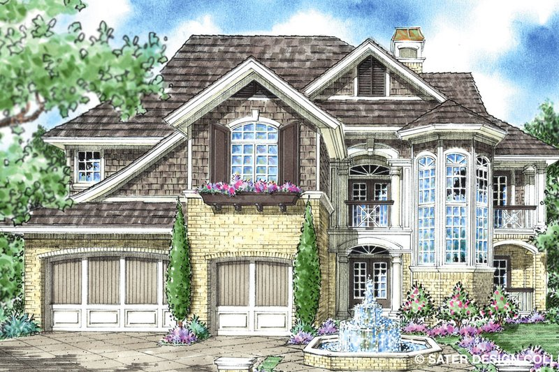 Country Exterior - Front Elevation Plan #930-281