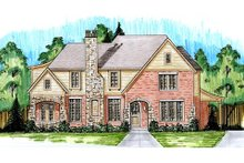 European Exterior - Front Elevation Plan #46-486