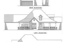 House Plan Design - Country Exterior - Rear Elevation Plan #17-1018