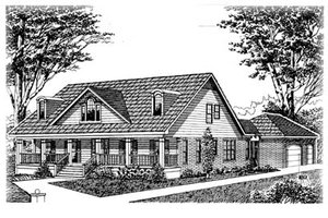 Country Exterior - Front Elevation Plan #15-215