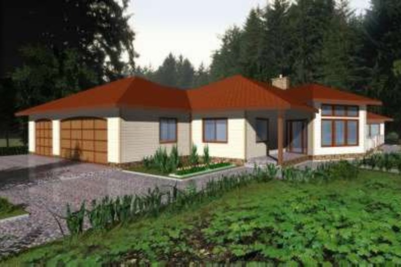 Traditional Exterior - Front Elevation Plan #117-358 - Houseplans.com
