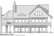 Dream House Plan - Craftsman Exterior - Rear Elevation Plan #70-970