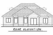 Ranch Style House Plan - 3 Beds 2 Baths 1642 Sq/Ft Plan #20-1869 Exterior - Rear Elevation