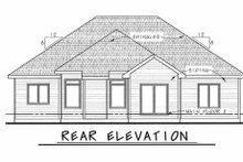 House Plan Design - Ranch Exterior - Rear Elevation Plan #20-1869
