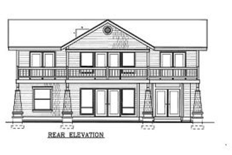 Craftsman Exterior - Rear Elevation Plan #100-204 - Houseplans.com
